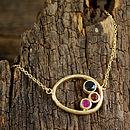 Gold Organic Ruby And Garnet Necklace