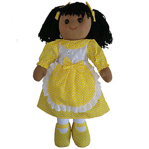 Rag Doll With Yellow Dress - baby & child