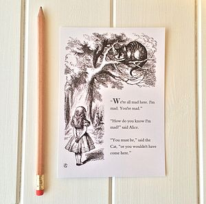 Alice In Wonderland Postcard - cards & invitations