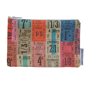 Tickets Purse - make-up & wash bags