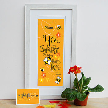 Mum Is 'Bees Knees' Personalised Print