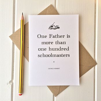 Literary Quote Father's Day Card