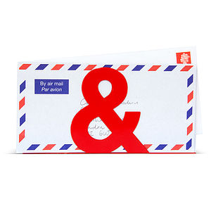 Ampersand Letter Holder
