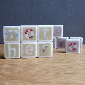 'Mother' Decorative Letter Tiles - gifts under £15