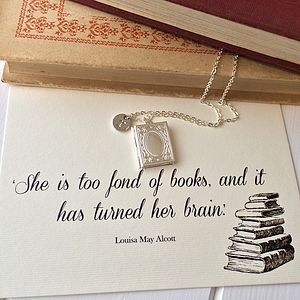 Personalised Book Lover Locket - necklaces & pendants