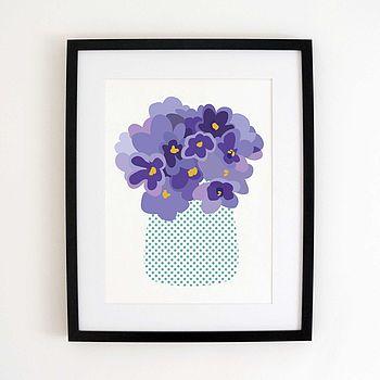 Turquoise Polka-Dot Vase