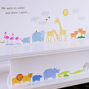 Childrens Safari Wall Stickers