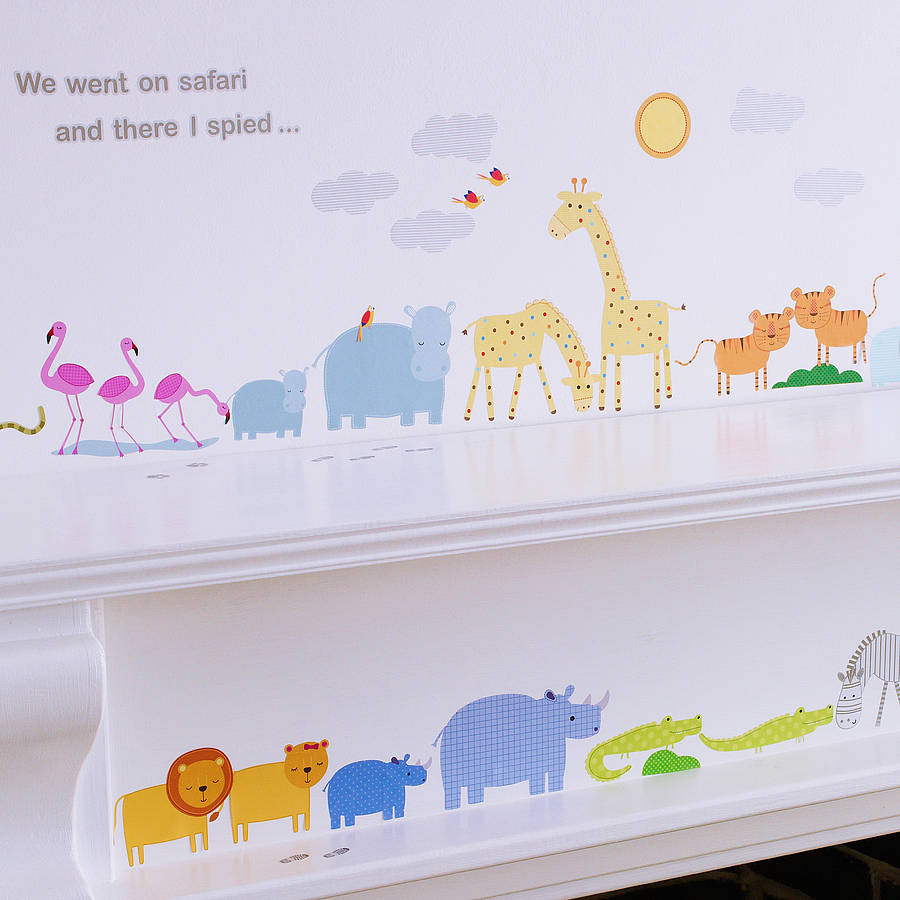 childrens safari wall stickers by kidscapes children s rabbit wall stickers by koko kids