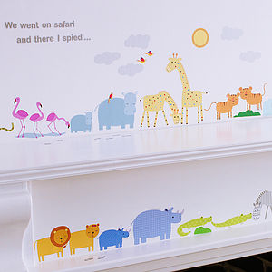 Childrens Safari Wall Stickers - dining room