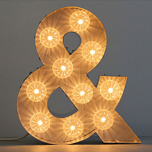 Light Up Bulb Letter Ampersand - home accessories