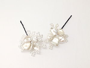 Keishi Pin - bridal hairpieces