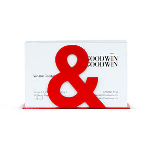 Ampersand Business Card Holder - desk tidies