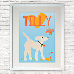 Personalised Little Dog Print - pet-lover