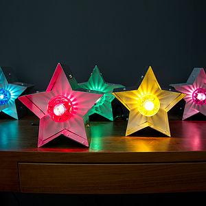 Small Fairground Star Lights - decorative lighting
