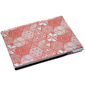 A5 Hexie Doodle Fabric Sketchbook Or Notebook