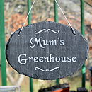 Engraved Sign For Mum's Garden