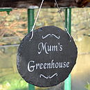 Engraved Mum's Greenhouse Sign