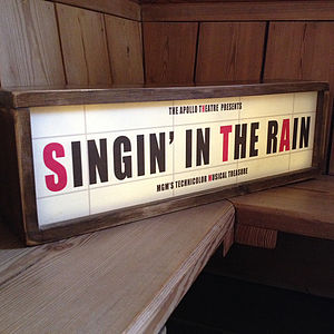 Retro Style Light Box Cinema Sign - best wedding gifts