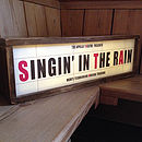 Retro Style Light Box Cinema Sign