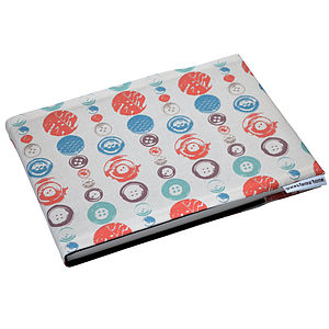 A5 Buttons Fabric Sketchbook Or Notebook