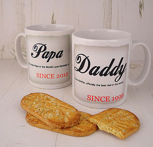 'Daddy/Mummy Since…' Mug - mugs