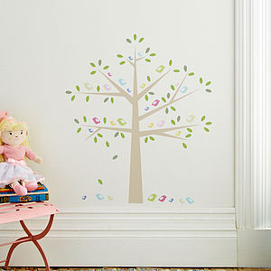 Childrens Birds In A Tree Wall Stickers - decorative accessories