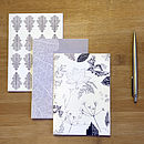 Set Of Three Monochrome Leaf Notebooks