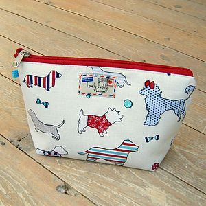 Dog Silhouettes Makeup Toiletry Wash Bag - bags & purses