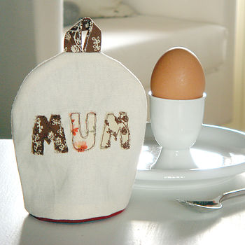 personalised mother's day egg cosy