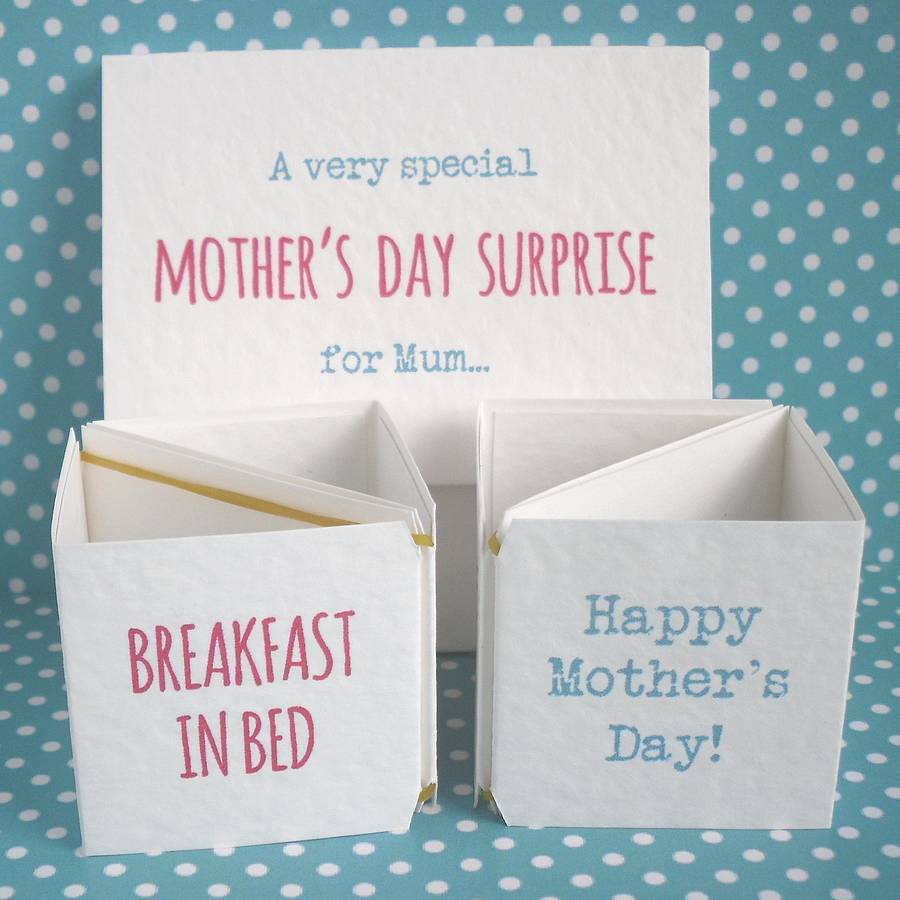 personalised mother's day surprise cards by paperbuzz ...