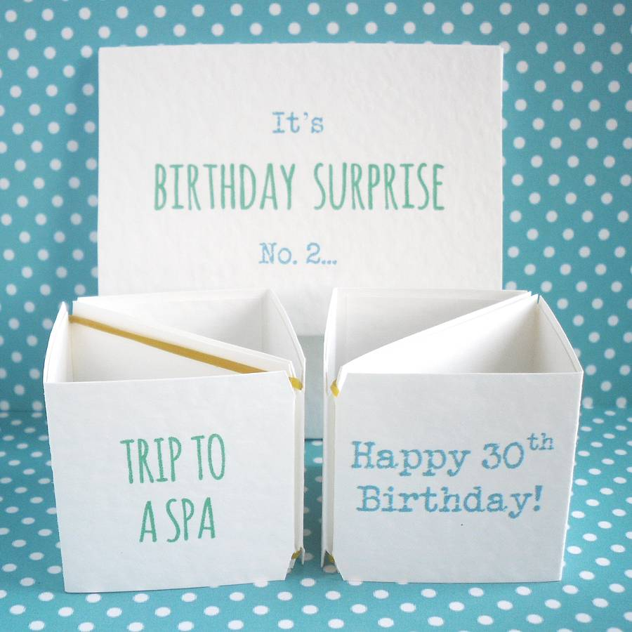 Personalised Birthday Surprise Cards By Paperbuzz