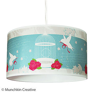 Bird Cage Vintage Lampshade - lighting
