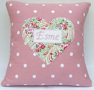 Personalised Paisley Print Cushion - cushions