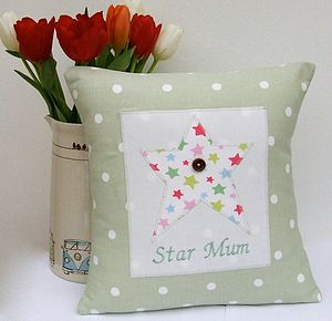 Personalised Star Appliqué Cushion - view all mother's day gifts