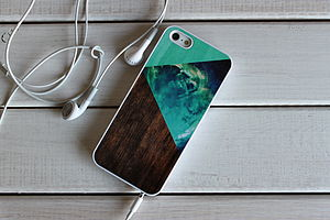Geometric Wood Block Case For iPhone
