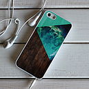Geometric Wood Block Case Phone Case
