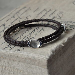 Personalised Fingerprint Wrap Bracelet - jewellery for men