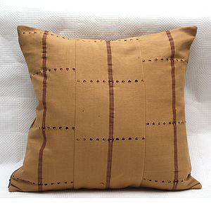 Cream Striped Cushion