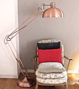 Poppy Angled Floor Lamp - bedroom