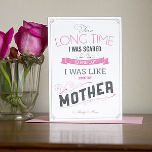 Marilyn Monroe Quote Mother's Day Card - winter sale