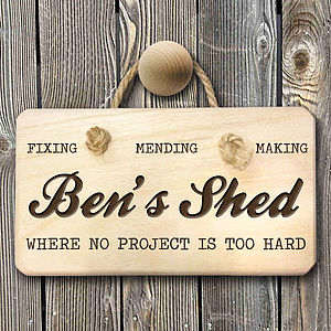 Personalised Man Shed Sign - decorative accessories