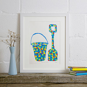 Bucket And Spade Screen Print