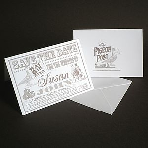 Personalised Save The Date Card - save the date cards