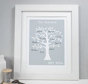Personalised Family Tree Framed Print - prints & art
