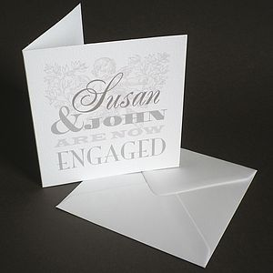 Personalised Engagement Announcement Card