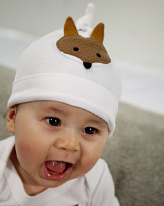 Baby Hat Newborn With Fox