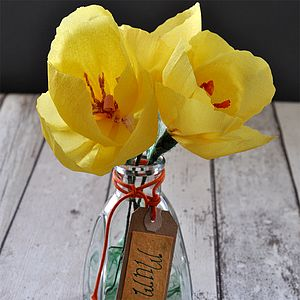 Happy Thoughts Paper Flower Tulips - home accessories