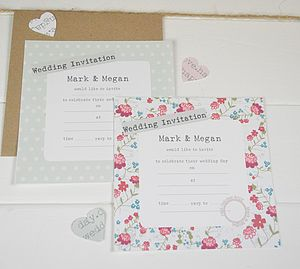 Vintage Floral Wedding Invitations - wedding stationery
