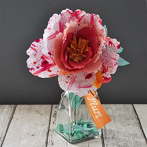 Good Fortune Paper Flower Peony - living room