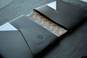 Vintage Style Leather Wallet Skull Damask - wallets
